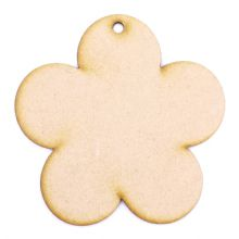 3mm MDF Wood Laser Cut Craft Shapes - Tag Flower